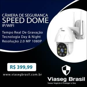 Câmera de Segurança Speed Dome IP/WIFI