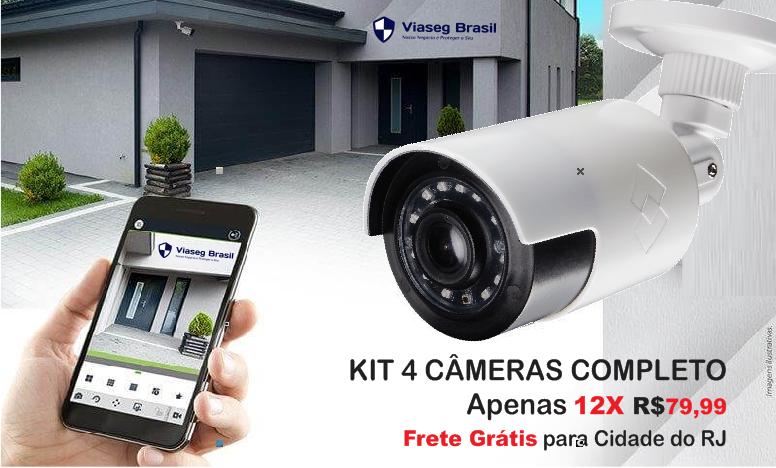 cftv kit com 4 cameras